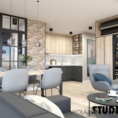 Mieszkanie przy Ślusarskiej: styl , w kategorii Jadalnia zaprojektowany przez MIKOŁAJSKAstudio ,