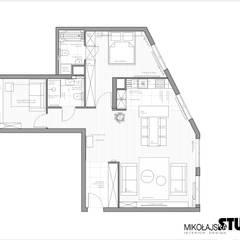 Apartament nr 333: styl , w kategorii Podłogi zaprojektowany przez MIKOŁAJSKAstudio ,