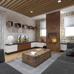 غرفة المعيشة تنفيذ studiosagitair , ريفي