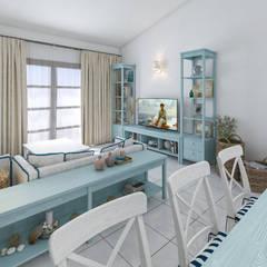 Salas / recibidores de estilo  por studiosagitair, Mediterráneo