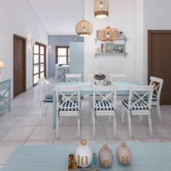 Dining room by studiosagitair, Mediterranean