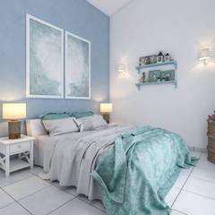 Bedroom by studiosagitair, Mediterranean