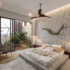 Small bedroom by NATALIA MENACHE ARQUITECTURA, Modern