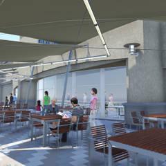 Proyecto Cubierta Tensada Galerías y espacios comerciales de estilo minimalista de D&D Arquitectura Minimalista