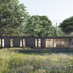 por Define Architects Escandinavo Madeira Acabamento em madeira