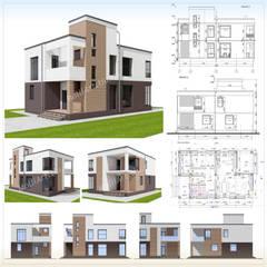 Проект частного дома: Дома на одну семью в . Автор – MollyArt, Минимализм