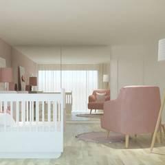 Dormitorios de bebé de estilo  por Ana Rocha, Moderno