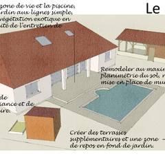 Projet Paysager Saubusse 40180. Landes.: Jardin de style  par Conseils en aménagement paysagés Intérieurs/Extérieurs, Moderne