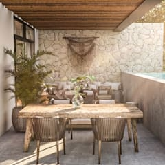 Garden Pool by Obed Clemente Arquitectura, Rustic کنکریٹ