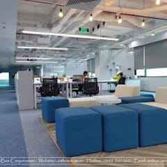 Thiết kế nội thất văn phòng V-Space:  Phòng học/Văn phòng by Thiết Kế Nội Thất - ARTBOX, Hiện đại