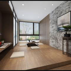 Study/office by 立騰空間設計, Asian