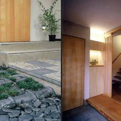 Vườn theo 光風舎1級建築士事務所, Mộc mạc Gỗ Wood effect