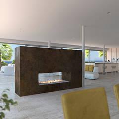 Mediterranean style dining room by Taqnia arquitectos Mediterranean