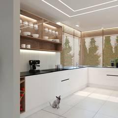 parter domku - projekt GACKOWSKA DESIGN od GACKOWSKA DESIGN Nowoczesny