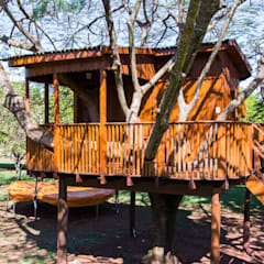 Log cabin by Due Z Arquitetura, Rustic Wood Wood effect