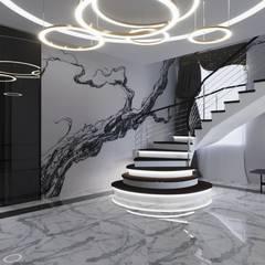 Интерьер с фреской Брейгеля.: Лестницы в . Автор – GruzdArt, Модерн