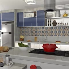 وحدات مطبخ تنفيذ Ivy Mello Arquitetura Construção e Interiores , كلاسيكي