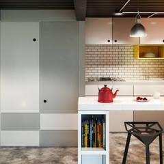 Minilofts: Cocinas de estilo  por IdeaBang, Industrial