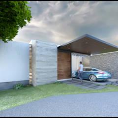 Casa ES: Casas de campo de estilo  por Geometrica Arquitectura, Moderno