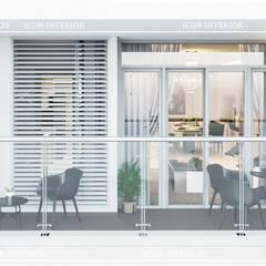 Quy luật tương phản trong thiết kế nội thất căn hộ Vinhomes Central Park:  Hành lang by ICON INTERIOR,