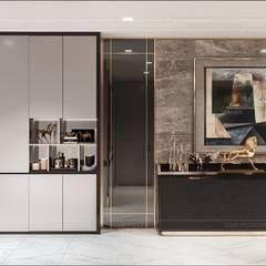 Quy luật tương phản trong thiết kế nội thất căn hộ Vinhomes Central Park:  Cửa ra vào by ICON INTERIOR, Hiện đại