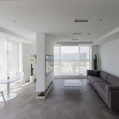 분당구 백현동 A 아파트|Residence: 므나 디자인 스튜디오의  거실,모던
