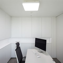 분당구 백현동 A 아파트 Residence: 므나 디자인 스튜디오의  서재 & 사무실,모던
