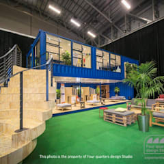 Four Quarters Design - Exhibition Stand :  Exhibition centres by Container Rental and Sales (Pty) Ltd, Industrial