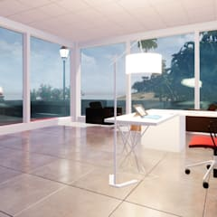Study/office by 盧博士虛擬實境設計工坊, Tropical Glass