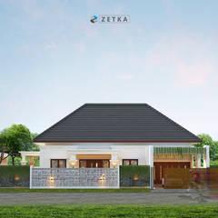 """GRIYA ANJAS """" PALANGKARAYA"""": Rumah tinggal  oleh zetka arsitek, Minimalis Beton"""