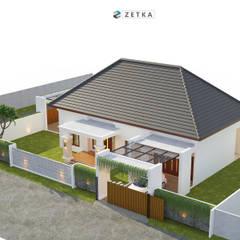"""GRIYA ANJAS """" PALANGKARAYA"""": Rumah tinggal  oleh zetka arsitek, Minimalis Chipboard"""