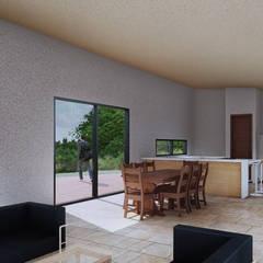 Casa 11: Salas de estilo  por HD Arquitectura,