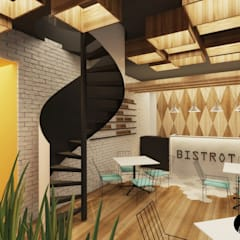 Crepe Supreme Tecamachalco: Restaurantes de estilo  por T+F Arquitectos, Moderno
