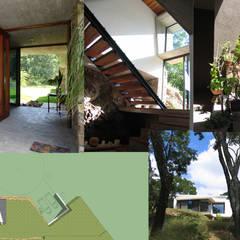 CASA HABITACIÓN SOSTENIBLE: Casas ecológicas de estilo  por CICLOS BIOCLIMATICA, Moderno