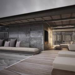 Rooftop Ravignani Balcones y terrazas modernos: Ideas, imágenes y decoración de T + T arquitectos Moderno