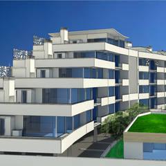 EDIFICIO BIOCLIMATICO: Casas ecológicas de estilo  por CICLOS BIOCLIMATICA, Moderno