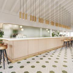 Restaurants de style  par T + T arquitectos,