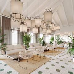 Restaurante La Cantera: Gastronomía de estilo  por T + T arquitectos,