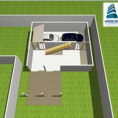 Garasi ganda oleh Servicios de Ingeniería, Diseño & Construcción, Tropis Batu Bata