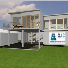 Jardines en la fachada de estilo  por Servicios de Ingeniería, Diseño & Construcción,