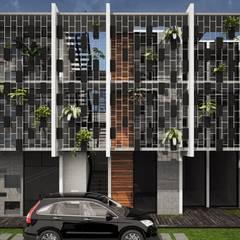Terrace house by PUNTO ARCO ARQUITECTOS, Minimalist