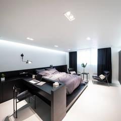 하남 빌라  Residence 모던스타일 침실 by 므나 디자인 스튜디오 모던
