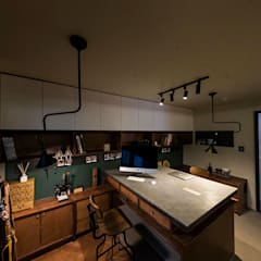 용인 수지구 U 아파트  Residence: 므나 디자인 스튜디오의  서재 & 사무실,모던