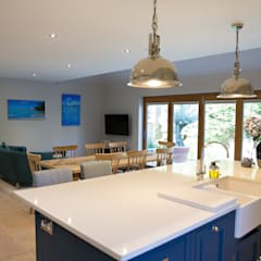 Bordon wraparound extension and reconfiguration project by dwell design Modern