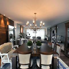 apartamento em Caxias do Sul |RS Salas de jantar ecléticas por C2 Arquitetos Eclético
