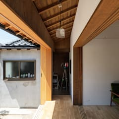Conservatory by 山本嘉寛建築設計事務所 YYAA, Asian Wood Wood effect