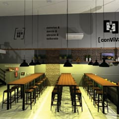 Bars & clubs by Poli Branding Design e Arquitetura Comercial, Industrial Wood Wood effect