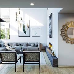 اتاق نشیمن توسطUrbyarch Arquitectura / Diseño