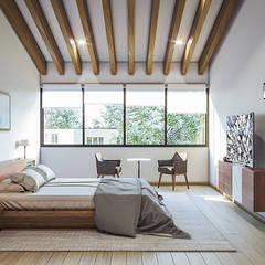 Bedroom by Urbyarch Arquitectura / Diseño, Rustic