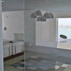 Vivienda unifamiliar: Livings de estilo  por espacio interior,Clásico Cerámico